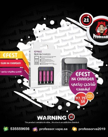 (eFest Slim K4 Battery Charger (4 Slot
