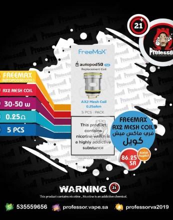 Freemax Autopod50 AX2 Mesh Coil 0.25